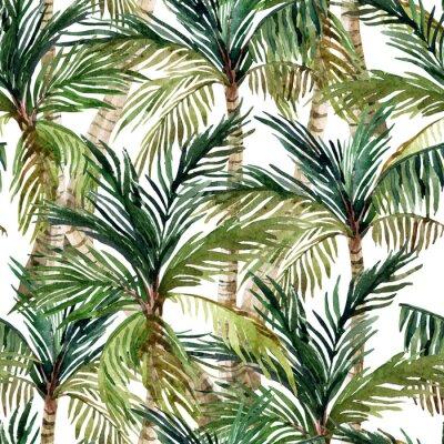 Фотообои Акварели пальма бесшовные модели