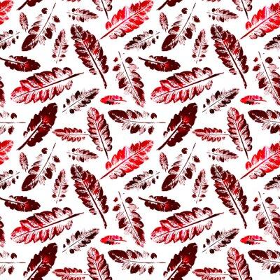Фотообои акварель рисунок отпечатка листья бесшовные текстуры фона