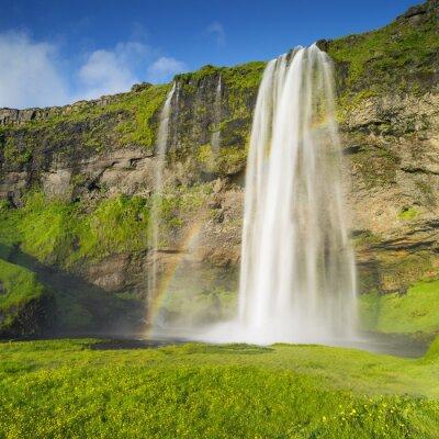 Фотообои водопад и радуга в Исландии