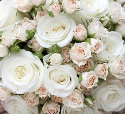 Фотообои Свадебный букет из pinkand белых роз