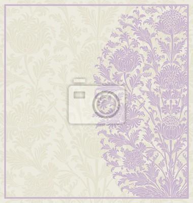 Фотообои дизайн свадебная открытка, Пейсли цветочный узор, Индия