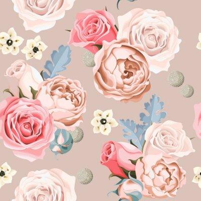 Фотообои Свадебные цветы бесшовные