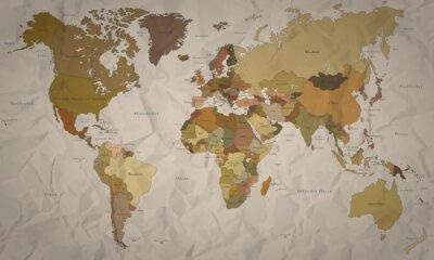 Фотообои Weltkarte - Historische Karte мит Verlauf (Хохер Detailgrad)