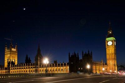 Фотообои Вестминстера и Биг-Бен ночью
