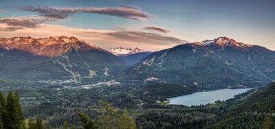 Фотообои Whistler Blackcomb закат Панорама