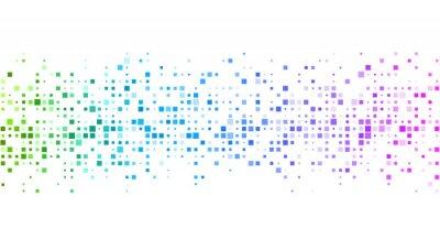 Фотообои Белый фон с красочным геометрическим рисунком.