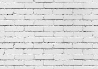 Фотообои Белая кирпичная стена, бесшовные текстуры фона