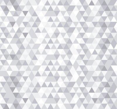 Фотообои Белый треугольник плитки бесшовные модели, вектор фон.