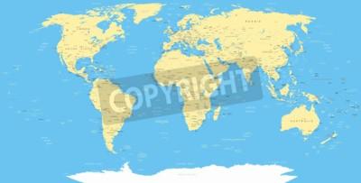 Фотообои Белый World Map и навигационные иконки - иллюстрации.