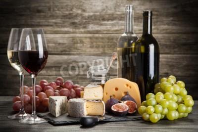 Фотообои Вино и сыр натюрморт