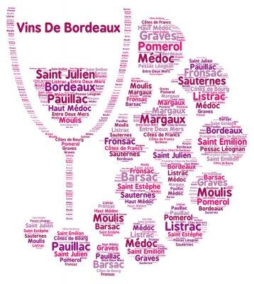 Фотообои Вино Бордо слово облако
