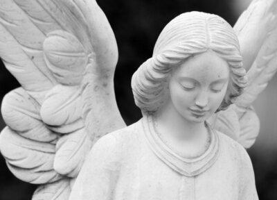 Фотообои крылатый ангельский статуя деталь лица и крылья