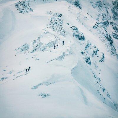 Фотообои Зимний пейзаж высоких снежных гор