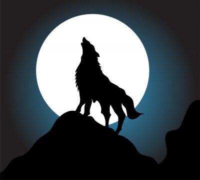 Фотообои Волк вой фон