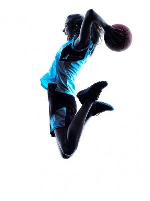 Фотообои woman basketball player silhouette