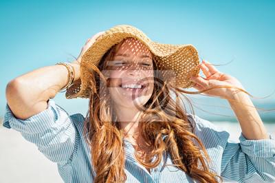Фотообои Woman enjoying summer