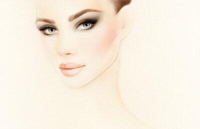 Фотообои Портрет женщины. Модная иллюстрация