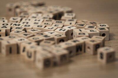 Фотообои деревянные кубики