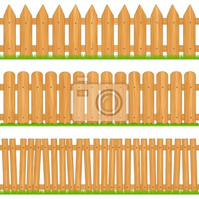Рисунок деревянного за