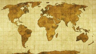 Фотообои world map on old paper