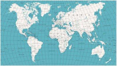 Фотообои Карта мира Политический клипарт