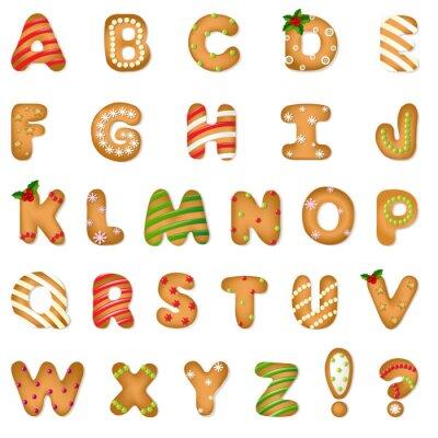 Фотообои Xmas Gingerbread Cookie Alphabet