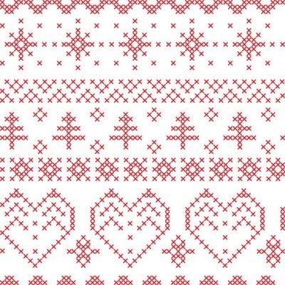 Фотообои Рождество бесшовные модели вдохновлен скандинавских узоров поперечных