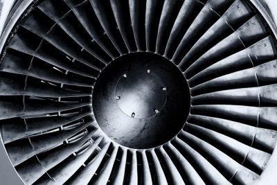 Фотообои Реактивный двигатель крупным планом. Черно-белый. Тонирование.