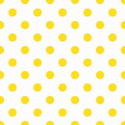 Фотообои Желтый Полька Dot шаблон
