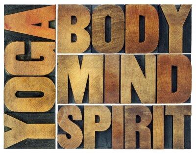Фотообои йога, тело, разум, душа и дух