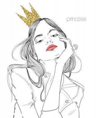 Фотообои молодая красивая женщина с короной