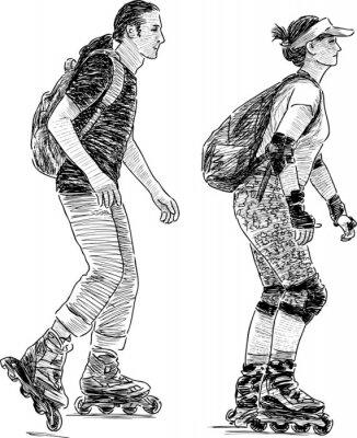 Фотообои young people skating