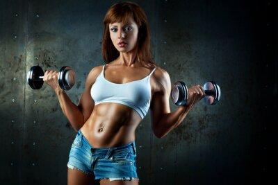 Фотообои Молодая спортивная женщина