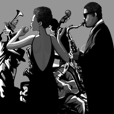 Плакат 0009-джазовая певица