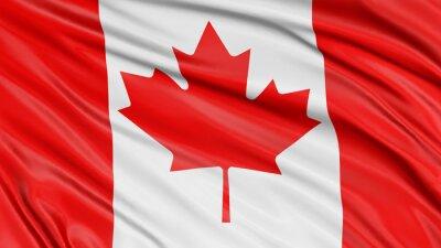 Плакат 3D Флаг Канады