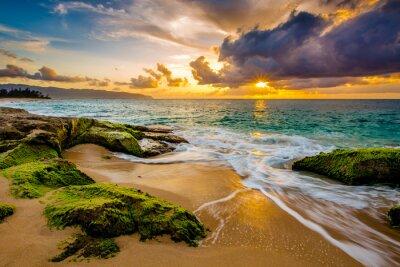 Плакат Красивая Гавайский закат
