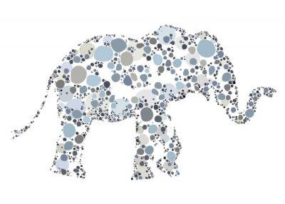 Плакат Творческая иллюстрация Elephant