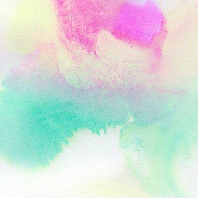 Плакат Абстрактные красочные акварель окрашены фон