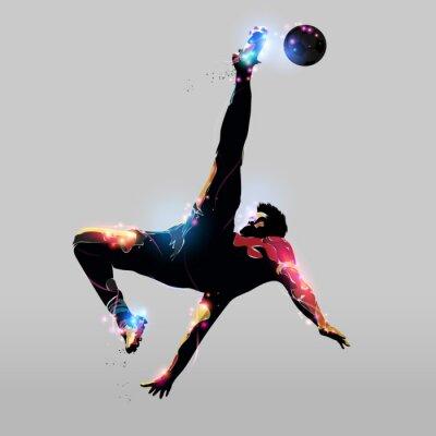 Плакат абстрактный Накладные Kick