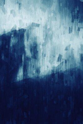 Плакат Abstract painting in monotone, digital illustration