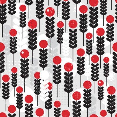 Плакат Абстрактные бесшовные шаблон с ягодами.