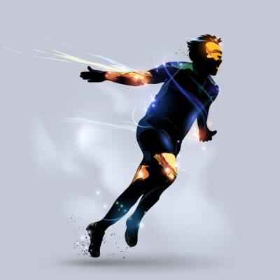 Плакат abstract soccer celebrating goal