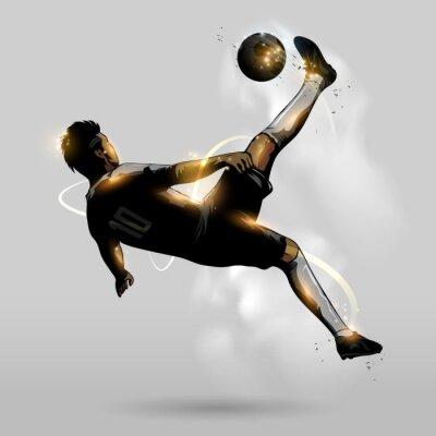 Плакат абстрактный футбол воздушная удар