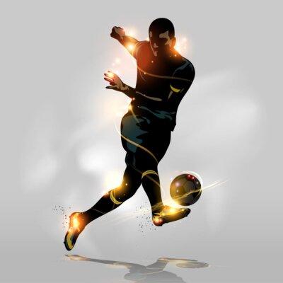 Плакат Аннотация футбол быстрый съемки