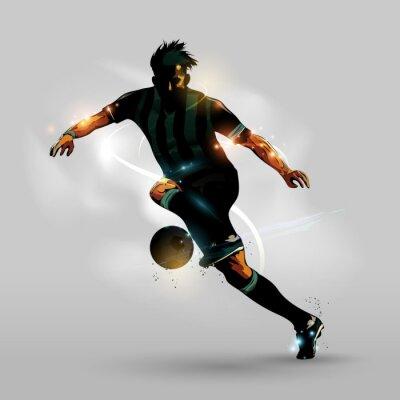 Плакат Аннотация Футбол Бег с мячом