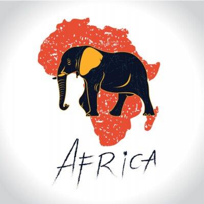 Плакат Африка и Safari с логотипом слона 2