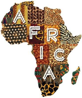 Плакат Африка лоскутное векторная карта