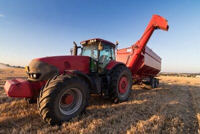 Плакат Сельское хозяйство трактор на стерне