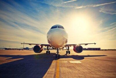 Плакат Самолет на восходе солнца