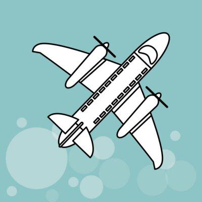 Плакат значок дизайн самолета